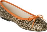 fs / ny orange trim leopard 'Zoe' ballet flats