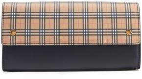 Burberry Checked Canvas And Leather Shoulder Bag
