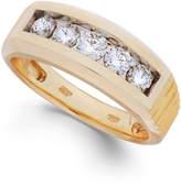 Macy's Men's Diamond Five-Stone Ring in 10k Gold (1 ct. t.w.)