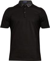 Lanvin Contrast granddad-collar polo shirt