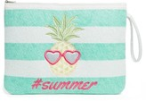 Capelli of New York Girl's Summer Icons Terry Clutch - Blue/green