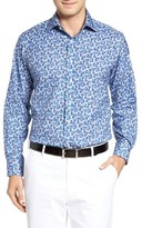 Robert Talbott Men's Estate Tailored Fit Floral Sport Shirt