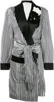 Lanvin striped robe - women - Silk/Polyamide/Polyester/glass - 34