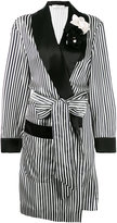 Lanvin striped robe - women - Silk/Polyamide/Polyester/glass - 36