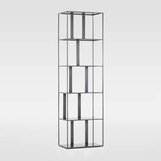 west elm Modern Industrial Narrow Bookshelf - Gunmetal