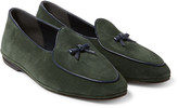 Rubinacci - Marphy Leather-trimmed Suede Loafers