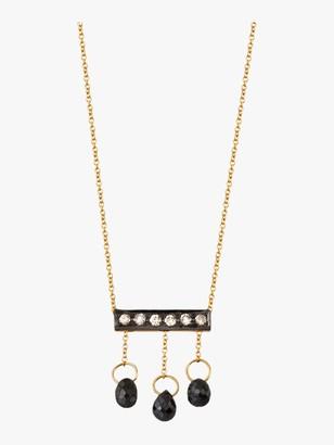 Harika Diamond Briolette Mini Bar Necklace