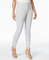 Alfani Petite Seam-Detail Skinny Pants, Created for Macy's