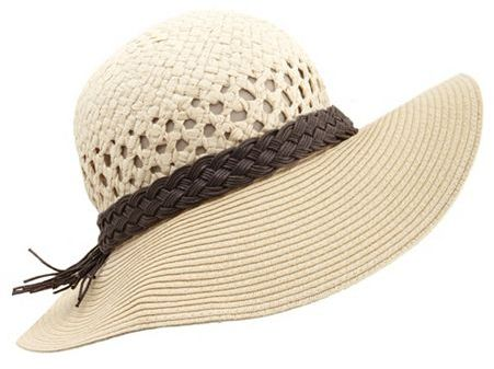 Charlotte Russe Braided Band Floppy Hat
