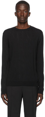 Valentino Black Wool VLTN Sweater