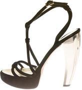DSQUARED2 Multistrap Suede Platform Sandals