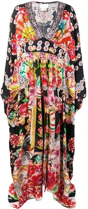 Camilla Printed Kaftan Dress