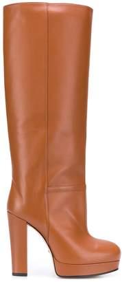 Gucci pull-on platform boots