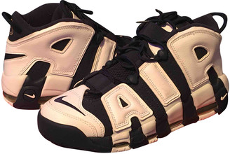 Nike More Uptempo Blue Patent leather Lace ups