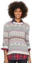 Chaps Women's Fairisle Crewneck Sweater