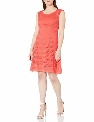 Ronni Nicole Women's Extended Cap Sleeve lace fit and Flare