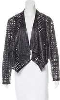 Milly Laser Cut Leather Jacket w/ Tags