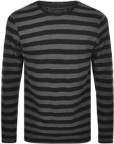 Nudie Jeans Orvar Striped T Shirt Black