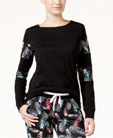Jessica Simpson The Warm Up Juniors' Pineapple Printed Sweatshirt