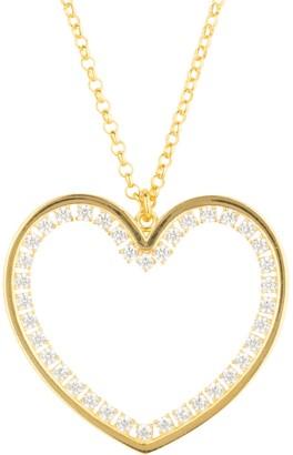 Latelita Heart Large Pendant Drop Necklace Gold