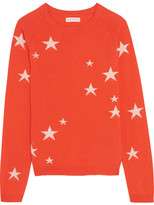 Chinti and Parker Star-intarsia Cashmere Sweater - Orange