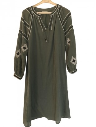 Hartford Green Cotton Dress for Women