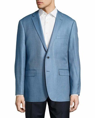 Vince Camuto Men's Two Button Modern Fit Pindot Blazer