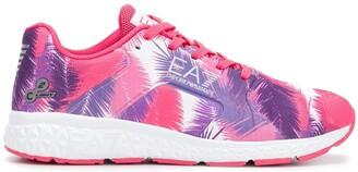 Ea7 Emporio Armani Printed Lace-Up Sneakers
