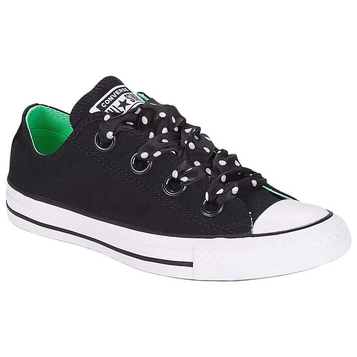 51ff0b2148f1f Chuck Taylor All Star Big Eyelets Ox Black/Illusion Green/White Casual Shoe  7.5 Women US
