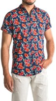 Drill Woven Printed Floral Shirt - Short Sleeve (For Men)