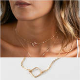 Etsy Simple Choker Necklace: Square, Chain Choker, Dainty Choker in Sterling Silver, 14kt Gold Filled, Ro