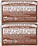 Dr. Bronner's Organic Pure Castile Bar Soap, Eucalyptus, 5 oz, 2 pk