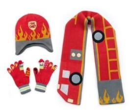 Kidorable Little and Big Boy Fireman Knitwear Set