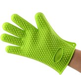 BAITER Insulated Oven Mitts Kitchen Microwave Silicone Glove Non-slip Heatproof Baking Gloves for Men and Women Pair of 2