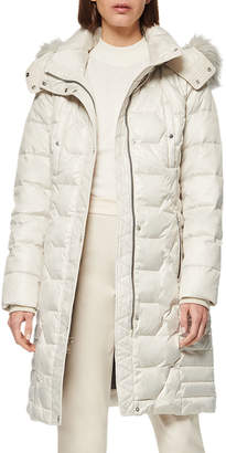 """Andrew Marc 37"""" Belted Down Puffer Coat"""