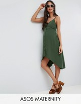 Asos Button Through Mini Sun Dress with Dipped Hem