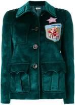 Miu Miu velvet sahariana jacket