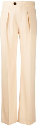 Chloé Pleated Straight Trousers