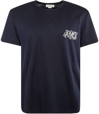 Alexander McQueen Initials Chest Print T-shirt