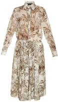 Rochas Elephant-print cotton-voile midi shirtdress