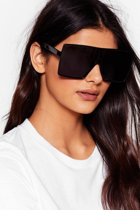 Nasty Gal Womens Oversized Tinted Sunglasses with Square Frame - Black