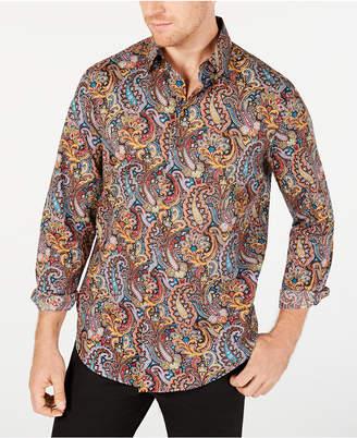Tasso Elba Men Stretch Cambridge Paisley Print Shirt