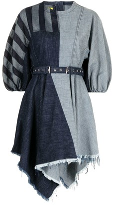 Marques Almeida Denim Patchwork Dress