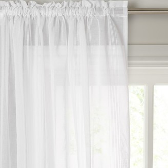 John Lewis & Partners Florence Slot Top Voile Panel, White