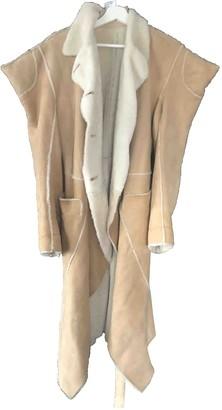 Christian Dior Beige Faux fur Coat for Women Vintage