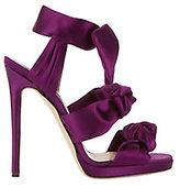 Jimmy Choo Kris Knot Satin Sandals