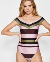 Ted Baker Imperial Stripe Bardot swimsuit