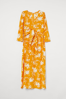 H&M H&M+ Tie-belt Dress - Yellow