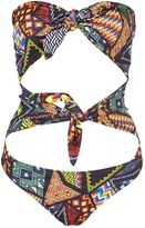 Jaded London **Festival Bead Double Bow Swimsuit