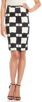 Alysi High-Waist Check Tube Skirt